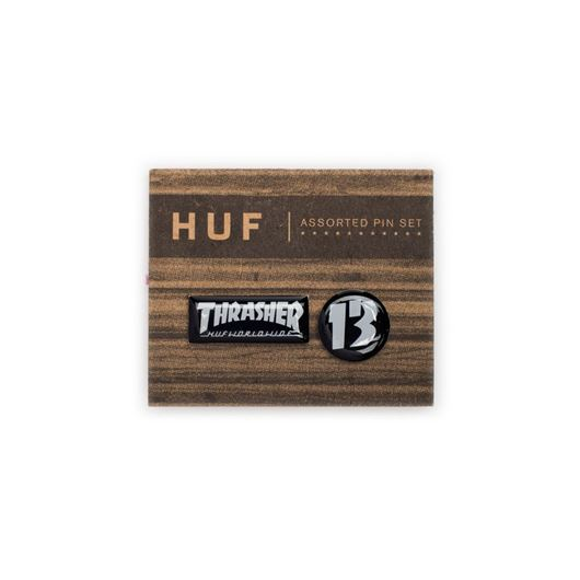 Picture of HUF X THRASHER PIN SET Black