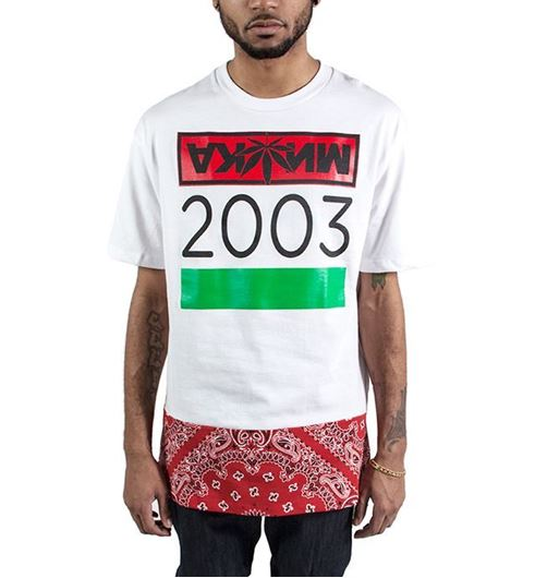 Picture of Cyrillic Rush Tee White