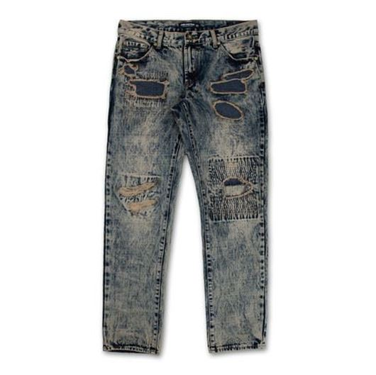 Picture of  DECONSTRUCED PAINTER DENIM PATCHWORK SANDWASH