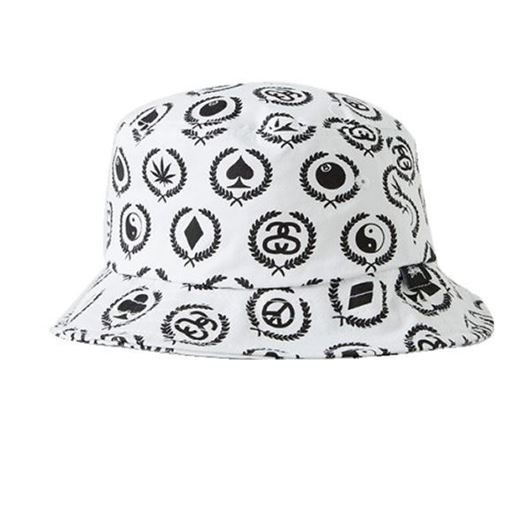 Picture of Mini Icons Bucket Hat White