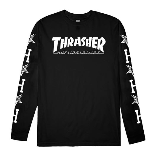 Picture of Collab Logo L/S Tee Black