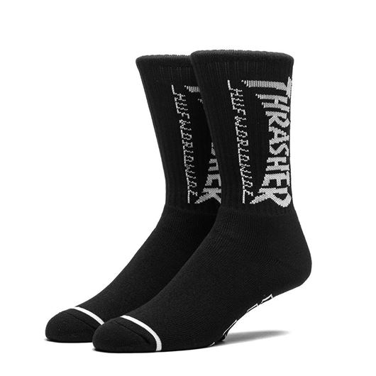Picture of Logo Crew Sock Black