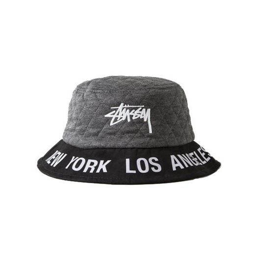 Picture of WT Quilted Bucket Hat Grey Heather