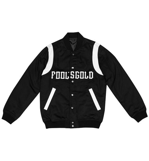 Picture of BSXFOOLSGOLD VARSITY JACKET Black