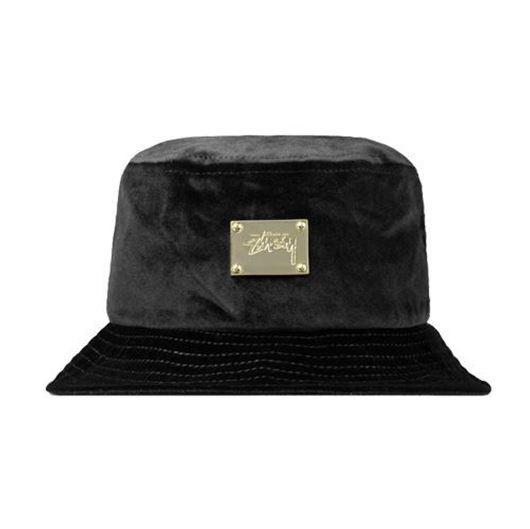 Picture of Lux Velvet Bucket Hat Black