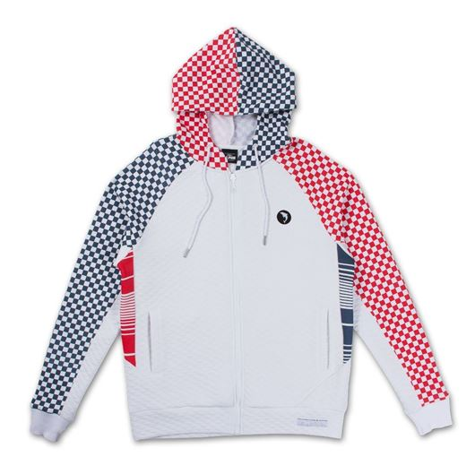 Picture of VISIONS ZIP-UP HOODIE White
