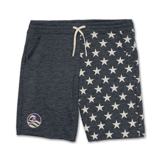 Picture of WAVES & STARS FLEECE SHORT Navy