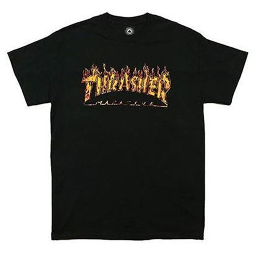 Picture of FLAME REAL FLAME Tee Black