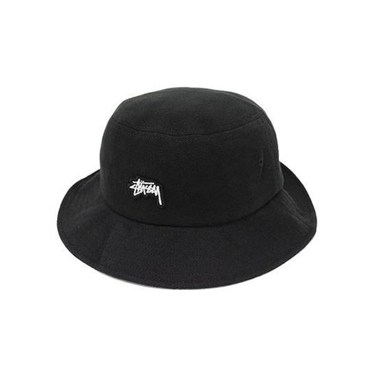 Picture of Stock Logo Pique Bucket Hat Black
