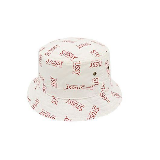 Picture of City Printed Bucket Hat Red