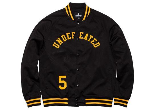 Picture of Mesh Varsity Jacket Black