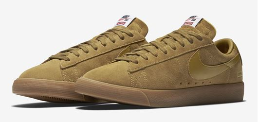 Picture of Supreme x Nike SB Blazer Low Golden Beige