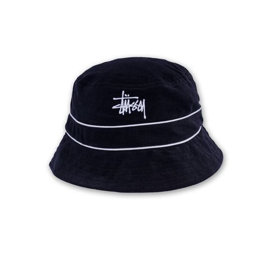 Picture of Cord Band Bucket Hat Black