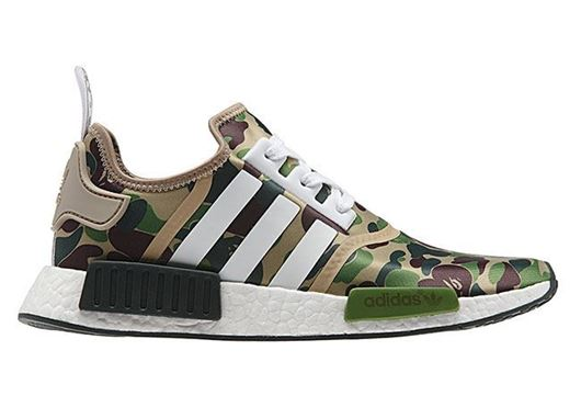 Picture of BAPE x adidas NMD Olive