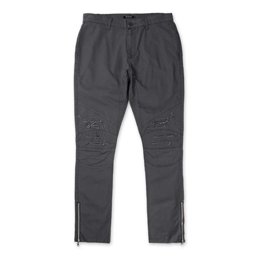 Picture of DISTRESS BIKER TWILL PANT Charcoal