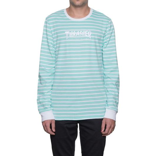 Picture of Thrasher Tds Stripe Crew -Indy Mint