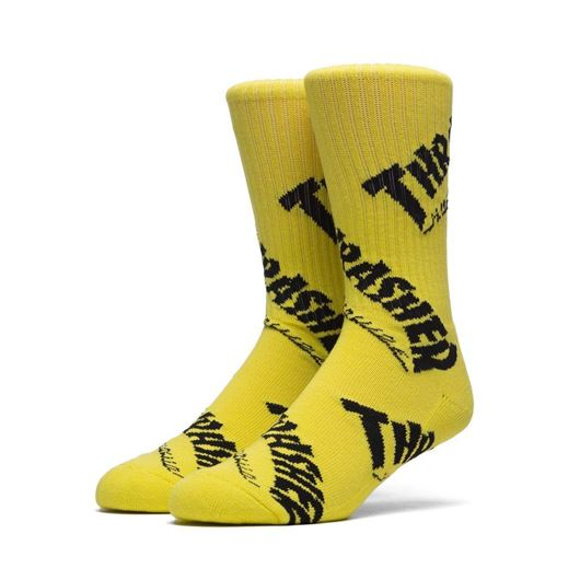 Picture of Thrasher TDS Crew Sock Yellow