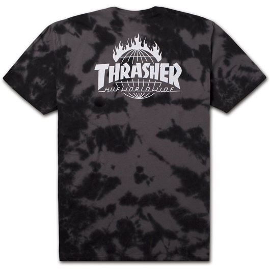 Picture of Thrasher tds crystal wash tee Black