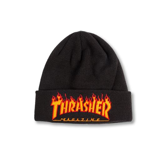 Picture of FLAME BEANIES EMBROIDERY Black