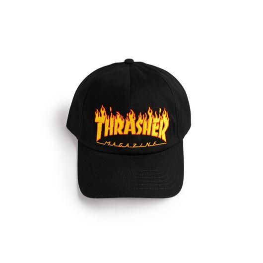Picture of FLAME CAP 6-PANEL EMBROIDERED Black