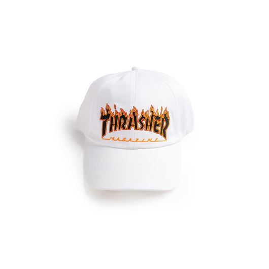 Picture of FLAME CAP 6-PANEL EMBROIDERED White