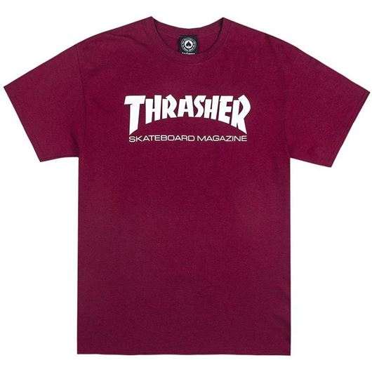 Picture of SKATE MAG Tee Maroon
