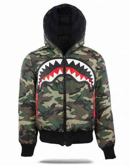 Picture of Reversible Camo Shark Down Coat Camo