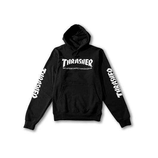 Picture of SKATE MAG PULLOVER HOODED SWEATSHIRT Black