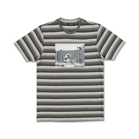 Picture of SHADES OF STRIPE TEE Grey