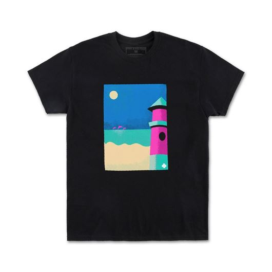 Picture of LIGHTHOUSE PORTRAIT TEE Black