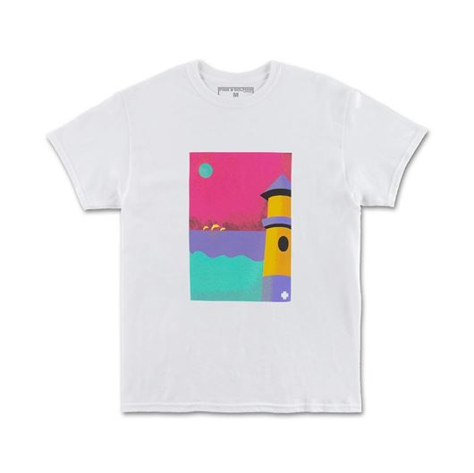 Picture of LIGHTHOUSE PORTRAIT TEE White