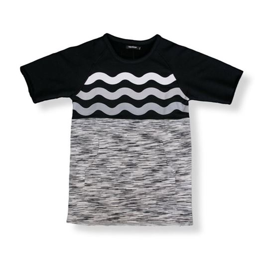 Picture of MARBLE WEAVE CREWNECK Grey