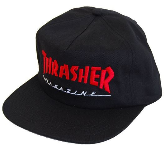 Picture of MAGAZINE LOGO TWO-TONE HAT Black/Red