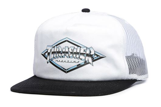 Picture of DIAMOND EMBLEM TRUCKER HAT White