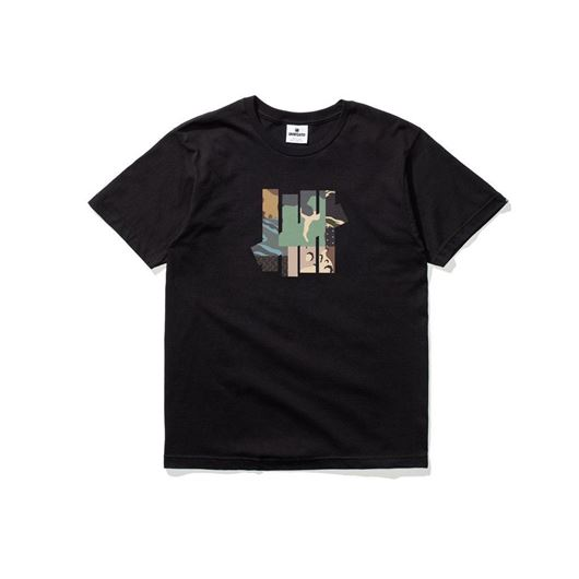 Picture of Patchwork strike tee Black