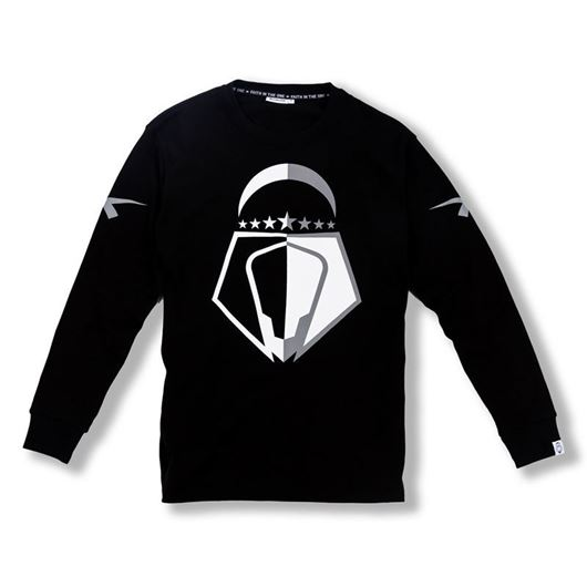 Picture of Overlap L/S Tee Black