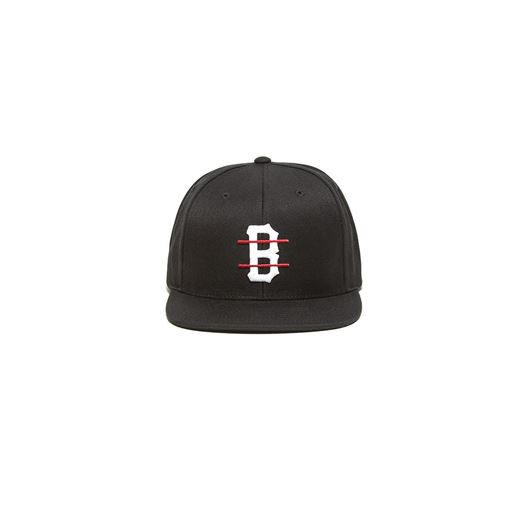Picture of B LOGO RED LINE SNAP BACK Black
