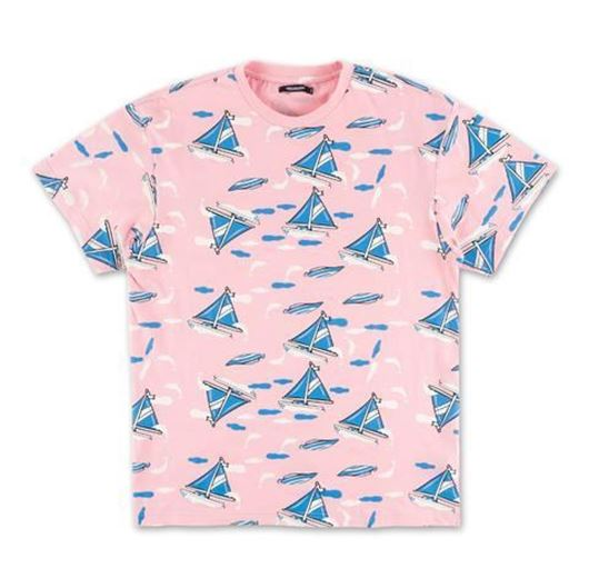 Picture of ALLOVER SAILBOAT TEE Coral