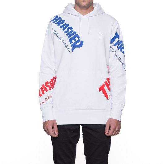 Picture of Thrasher TDS Allover Hood White