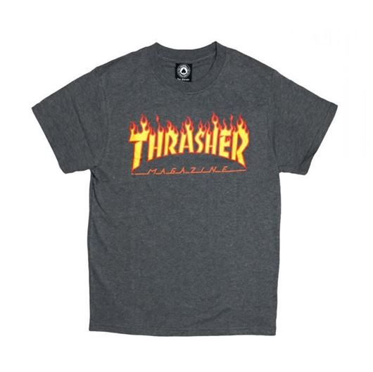 Picture of SM17 Flame Tee Charcoal