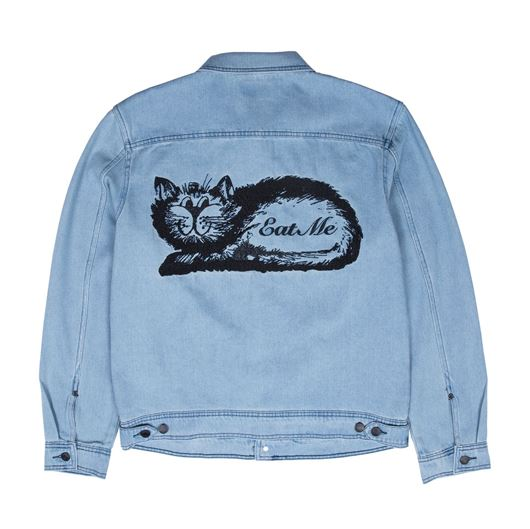Picture of Eat Me Denim Jacket Blue