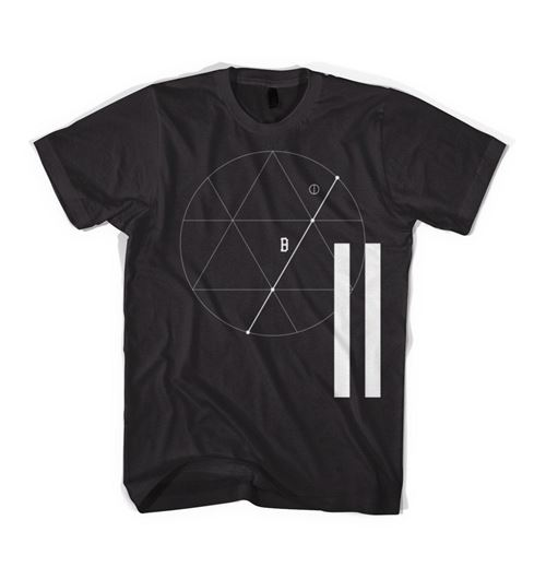Picture of TRES ÁNGULOS Tee Black