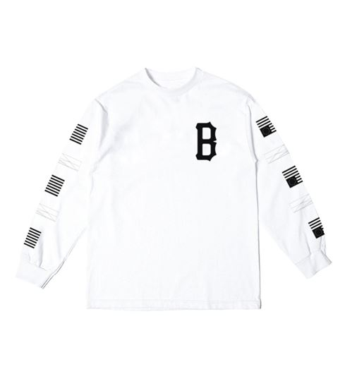 Picture of REPEAT REBEL LONG SLEEVE Tee White