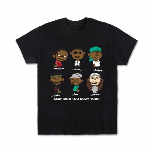 Picture of A$AP MOB GRAPHIC - S/S Black