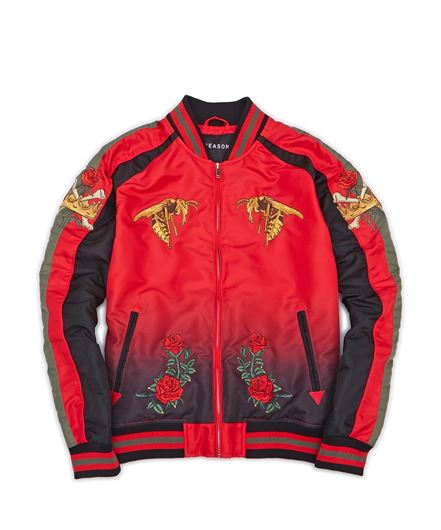 Picture of Jeweled Tiger Bomber Red