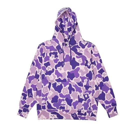Picture of Nermal Camo Pullover Hoodie Purple Camo