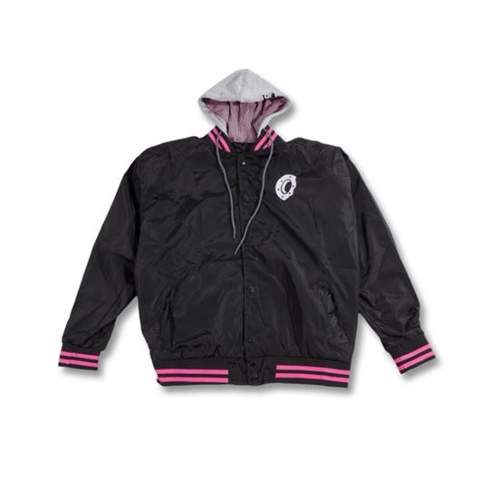 Picture of HOODED VARSITY Black