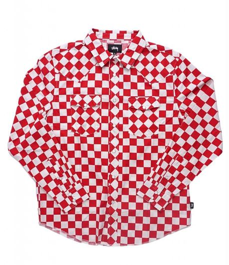 Picture of CHECKER WESTERN LS SHIRT Red