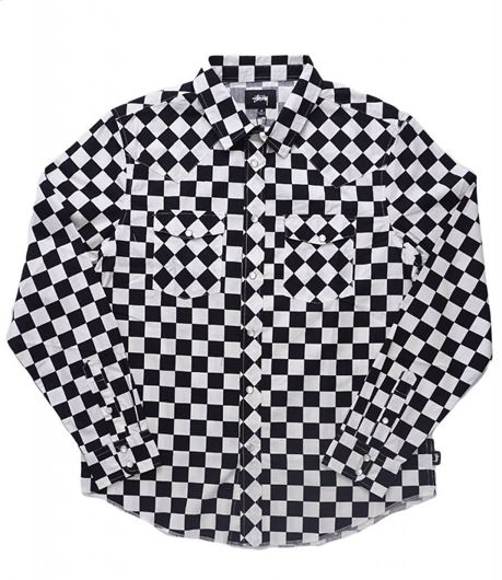 Picture of CHECKER WESTERN LS SHIRT Black