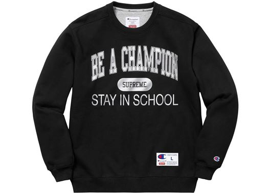 Picture of Supreme Champion Stay In School Crewneck Black